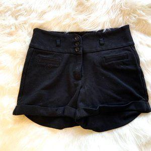 Tattoo Women's High Waist Soft Shorts Black